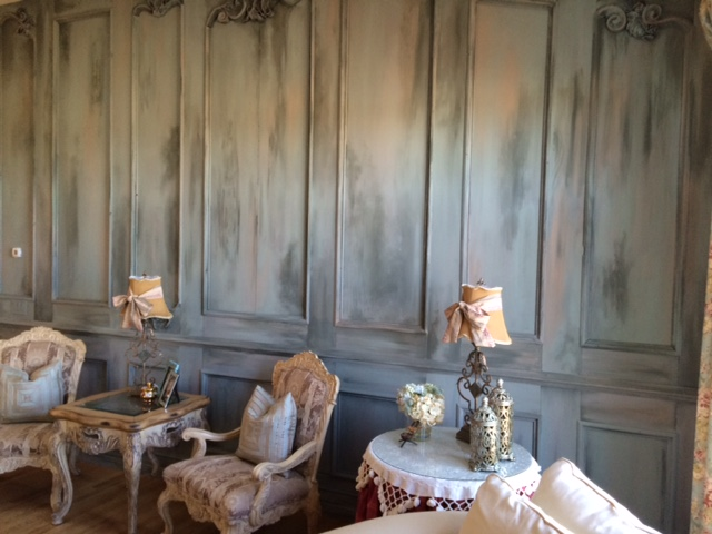 "Custom Wood and Paint Faux Wall ""Chateau"""