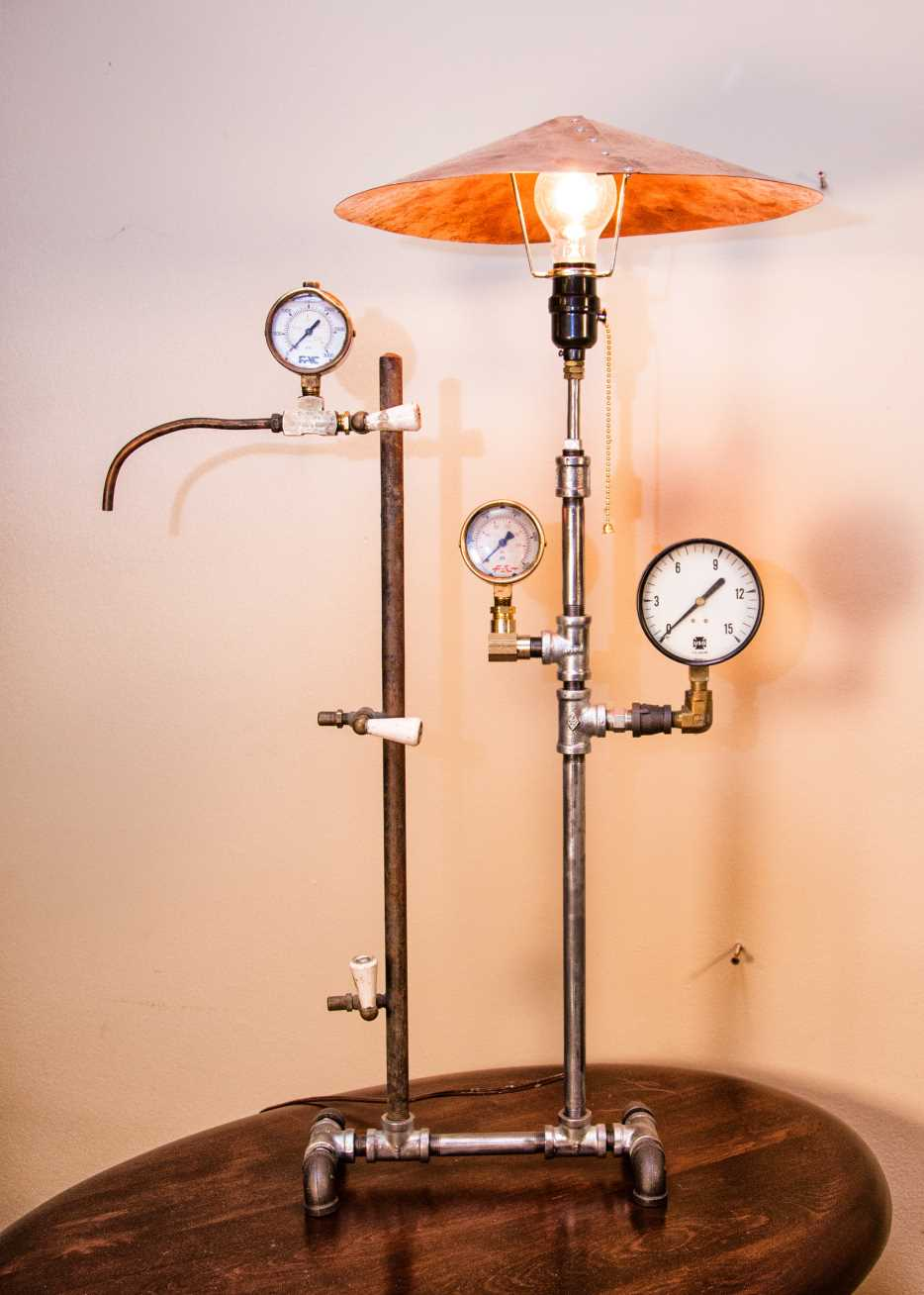 Steampunk Lamp – Sold